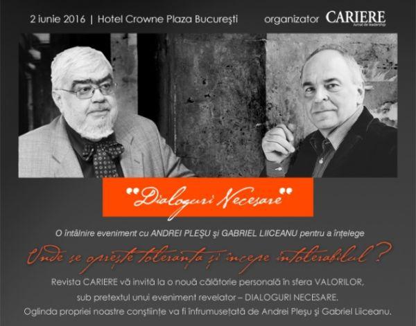 #Conferinta | DIALOGURI NECESARE – o intalnire cu Andrei Plesu si Gabriel Liiceanu
