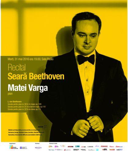 #Concert | SEARĂ BEETHOVEN cu Matei Varga