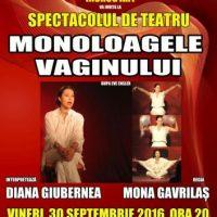 #Teatru | Monoloagele vaginului cu actrița Diana Giubernea