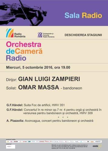 Omar Massa și Orchestra de Cameră Radio la Sala Radio